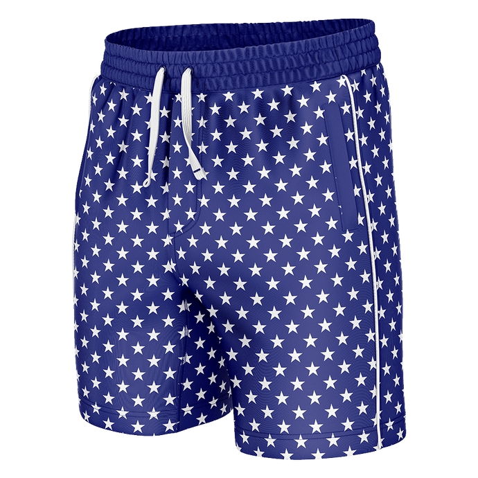 Print Brains Men's Swimsuit Stars Swim Trunks / Blue / S Stars Swim Trunks