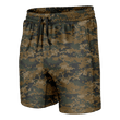 Load image into Gallery viewer, Print Brains Men's Swimsuit Woodland Digital Camo Swim Trunks / Camo / S Woodland Digital Camo Swim Trunks