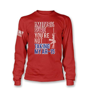 Printed Kicks Men's T-Shirt 1776% SURE - AR-15 Long Sleeve T-Shirt (5 Variants)