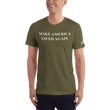 Load image into Gallery viewer, American Patriots Apparel Men's T-Shirt Army / XS Make America Saved Again 1 Cor. 15:1-4 Short Sleeve Tee (16 Variants)