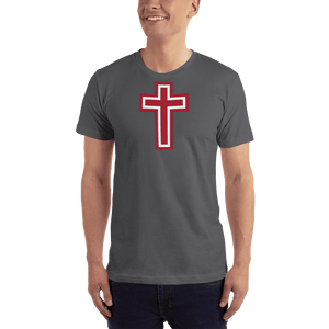 American Patriots Apparel Men's T-Shirt Asphalt / XS Red and White Cross T-Shirt (13 Variants)