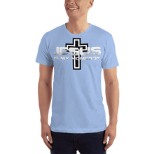 Load image into Gallery viewer, American Patriots Apparel Men's T-Shirt Baby Blue / S Jesus Is My Homeboy Black Cross T-Shirt (13 Variants)