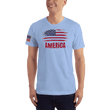 Load image into Gallery viewer, American Patriots Apparel Men's T-Shirt Baby Blue / XS AMERICA T-Shirt (13 Variants)
