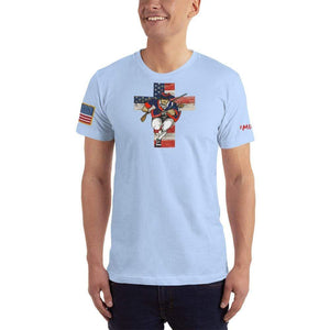 American Patriots Apparel Men's T-Shirt Baby Blue / XS American Patriots for God and Country Cross Logo 'Merica Tee (14 Variants)