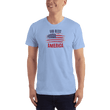 Load image into Gallery viewer, American Patriots Apparel Men's T-Shirt Baby Blue / XS God Bless America Distressed Flag T-Shirt (13 Variants)