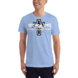 Load image into Gallery viewer, American Patriots Apparel Men's T-Shirt Baby Blue / XS Jesus Is My Homeboy Black Cross T-Shirt (13 Variants)