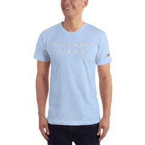 American Patriots Apparel Men's T-Shirt Baby Blue / XS Make America Saved Again 1 Cor. 15:1-4 Short Sleeve Tee (16 Variants)