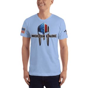 American Patriots Apparel Men's T-Shirt Baby Blue / XS Molon Labe Spartan Helmet T-Shirt (13 Variants)