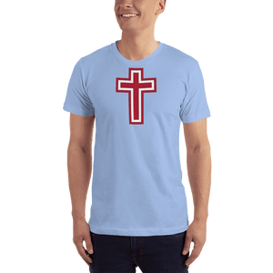 American Patriots Apparel Men's T-Shirt Baby Blue / XS Red and White Cross T-Shirt (13 Variants)