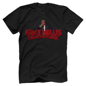 Print Brains Men's T-Shirt Bella + Canvas US Made Cotton Crew / Black / XS Trump Fake News MOVE THEM BACK (6 Variants)