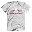 Load image into Gallery viewer, Print Brains Men's T-Shirt Bella + Canvas US Made Cotton Crew / Heather Gray / XS American Patriots Apparel Made In The USA Tee (6 Variants)