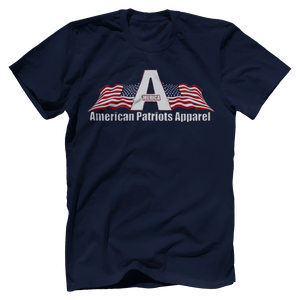 Print Brains Men's T-Shirt Bella + Canvas US Made Cotton Crew / Navy / XS American Patriots Apparel Made In The USA Tee (6 Variants)