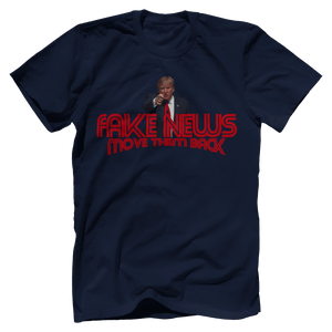 Print Brains Men's T-Shirt Bella + Canvas US Made Cotton Crew / Navy / XS Trump Fake News MOVE THEM BACK (6 Variants)