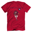 Load image into Gallery viewer, Print Brains Men's T-Shirt Bella + Canvas US Made Cotton Crew / Red / XS American Patriot Charging T-Shirt (4 Variants)