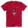 Load image into Gallery viewer, Print Brains Men's T-Shirt Bella + Canvas US Made Cotton Crew / Red / XS Patriot Charging T-Shirt (6 Variants)