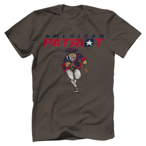 Print Brains Men's T-Shirt Bella + Canvas US Made Cotton Crew / Warm Gray / XS American Patriot Charging T-Shirt (4 Variants)