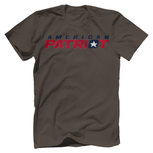 Print Brains Men's T-Shirt Bella + Canvas US Made Cotton Crew / Warm Gray / XS American Patriot V1 T-Shirt (6 Variants)