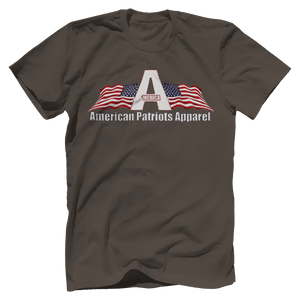 Print Brains Men's T-Shirt Bella + Canvas US Made Cotton Crew / Warm Gray / XS American Patriots Apparel Made In The USA Tee (6 Variants)