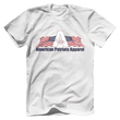 Load image into Gallery viewer, Print Brains Men's T-Shirt Bella + Canvas US Made Cotton Crew / White / XS American Patriots Apparel Made In The USA Tee (6 Variants)