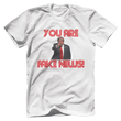 Load image into Gallery viewer, Print Brains Men's T-Shirt Bella + Canvas US Made Cotton Crew / White / XS Fired Up Trump You Are Fake News T-Shirt (White Lettering)