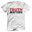 Load image into Gallery viewer, Print Brains Men's T-Shirt Bella + Canvas US Made Cotton Crew / White / XS Truth Matters Red & Black Text T-Shirt (6 Variants)