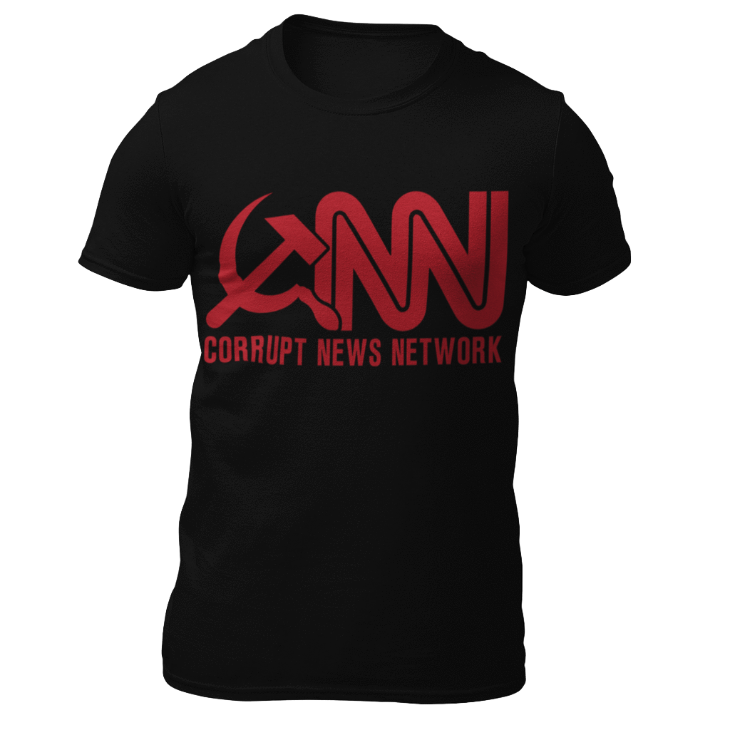 Right Wing Gear Men's T-Shirt Black / S Corrupt News Network Men's Cotton Tee Shirt (3 Variants)