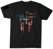 Load image into Gallery viewer, Howitzer Clothing Men's T-Shirt Black / S PATRIOT Spartan Helmet Tee