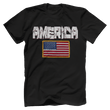 Load image into Gallery viewer, Print Brains Men's T-Shirt Black / XS / Bella + Canvas US Made Cotton Crew AMERICA Hulk Font Official Army Flag Tee (6 Variants)