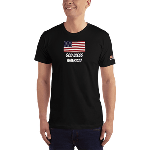 American Patriots Apparel Men's T-Shirt Black / XS God Bless America Distressed American Flag Short Sleeve T-Shirt (16 Variants)