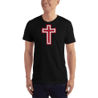 Load image into Gallery viewer, American Patriots Apparel Men's T-Shirt Black / XS Red and White Cross T-Shirt (13 Variants)