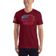 Load image into Gallery viewer, American Patriots Apparel Men's T-Shirt Cranberry / XS AMERICA T-Shirt (13 Variants)