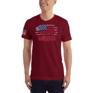 American Patriots Apparel Men's T-Shirt Cranberry / XS AMERICA T-Shirt (13 Variants)