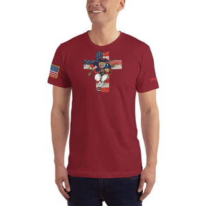 American Patriots Apparel Men's T-Shirt Cranberry / XS American Patriots for God and Country Cross Logo 'Merica Tee (14 Variants)