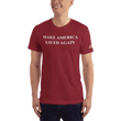 Load image into Gallery viewer, American Patriots Apparel Men's T-Shirt Cranberry / XS Make America Saved Again 1 Cor. 15:1-4 Short Sleeve Tee (16 Variants)