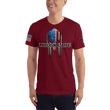Load image into Gallery viewer, American Patriots Apparel Men's T-Shirt Cranberry / XS Molon Labe Spartan Helmet T-Shirt (13 Variants)
