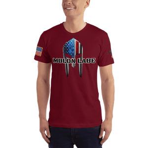 American Patriots Apparel Men's T-Shirt Cranberry / XS Molon Labe Spartan Helmet T-Shirt (13 Variants)