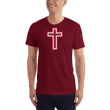 Load image into Gallery viewer, American Patriots Apparel Men's T-Shirt Cranberry / XS Red and White Cross T-Shirt (13 Variants)