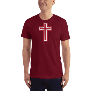 American Patriots Apparel Men's T-Shirt Cranberry / XS Red and White Cross T-Shirt (13 Variants)