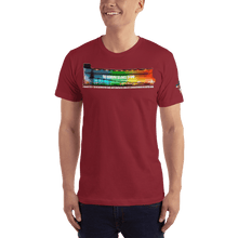 Load image into Gallery viewer, American Patriots Apparel Men's T-Shirt Cranberry / XS The Rainbow Belongs To God Genesis 9:13 Noah's Ark Tee (13 Variants)