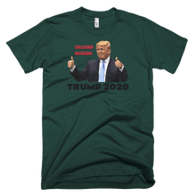 Load image into Gallery viewer, American Patriots Apparel Men's T-Shirt Forest / S TRUMP 2020 Collusion Delusion Two Thumbs Up T-Shirt (18 Variants)
