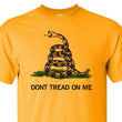 Load image into Gallery viewer, Gadsden and Culpeper Men's T-Shirt Front Print Gold Gadsden T-Shirt