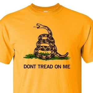 Gadsden and Culpeper Men's T-Shirt Front Print Gold Gadsden T-Shirt