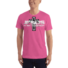 Load image into Gallery viewer, American Patriots Apparel Men's T-Shirt Fuchsia / S Jesus Is My Homeboy Black Cross T-Shirt (13 Variants)