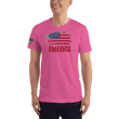 Load image into Gallery viewer, American Patriots Apparel Men's T-Shirt Fuchsia / XS AMERICA T-Shirt (13 Variants)