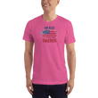Load image into Gallery viewer, American Patriots Apparel Men's T-Shirt Fuchsia / XS God Bless America Distressed Flag T-Shirt (13 Variants)