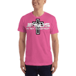 Load image into Gallery viewer, American Patriots Apparel Men's T-Shirt Fuchsia / XS Jesus Is My Homeboy Black Cross T-Shirt (13 Variants)