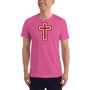 American Patriots Apparel Men's T-Shirt Fuchsia / XS Red and White Cross T-Shirt (13 Variants)