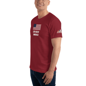 American Patriots Apparel Men's T-Shirt God Bless America Distressed American Flag Short Sleeve T-Shirt (16 Variants)