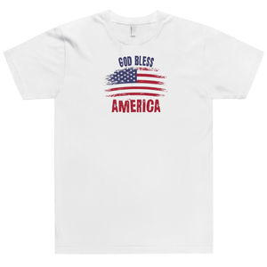 American Patriots Apparel Men's T-Shirt God Bless America Distressed Flag T-Shirt (13 Variants)