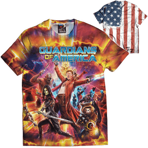 Print Brains Men's T-Shirt Guardians of America Tee / White / XS Guardians of America Tee